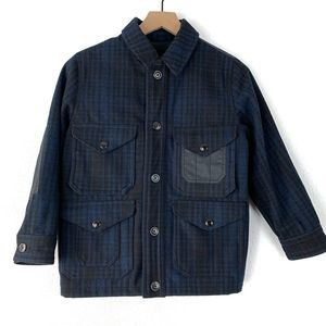 GapKids Plaid Wool Blend Utility Jacket Size M (8)